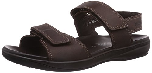 Mephisto SIMON GRIZZLY 151 DARK BROWN, Sandali uomo, Marrone (Braun (DARK BROWN)), 43