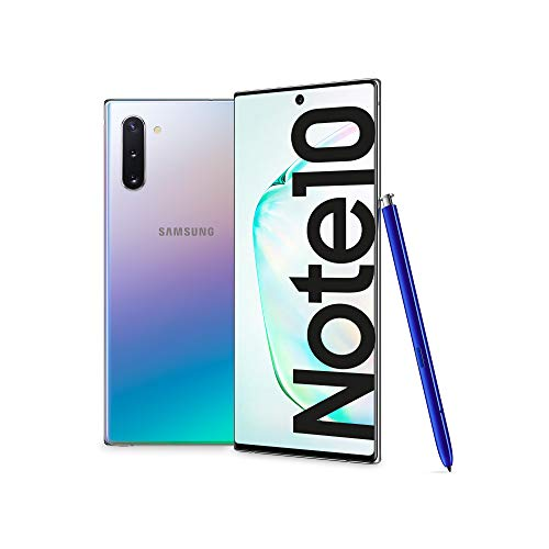samsung galaxy note10 smartphone, display 6.3, 256 gb, ram 8 gb, batteria 3500 mah, 4g, dual sim, android 9 pie, aura glow [versione italiana] 2019