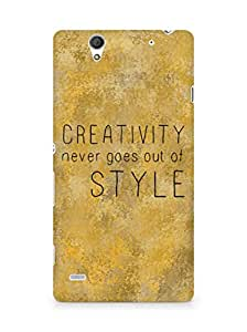 AMEZ creativity never goes out of style Back Cover For Sony Xperia C4