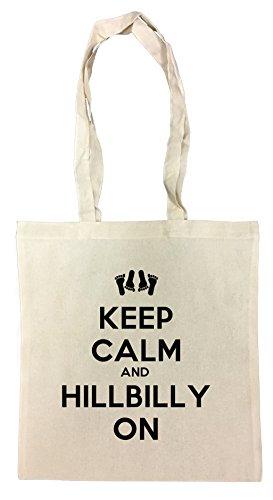 Erido Keep Calm and Hillbilly on Einkaufstasche Wiederverwendbar Strand Baumwoll Shopping Bag Beach Reusable