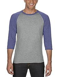 anvil Herren Tri-Blend Raglan T-Shirt mit 3/4 Arm / 6755