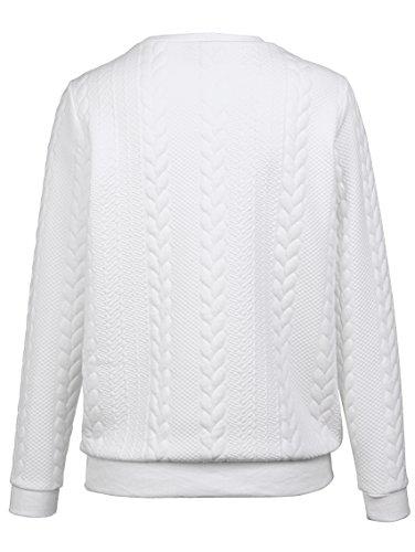 Damen Sweatshirt mit modischem Mustermix by KLiNGEL Weiß