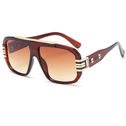 CVOO Hot Cool Sunglasses Brand Designer Women Flat Top Vintage Sun Glasses Female Square Shades Big Frame Sunglass