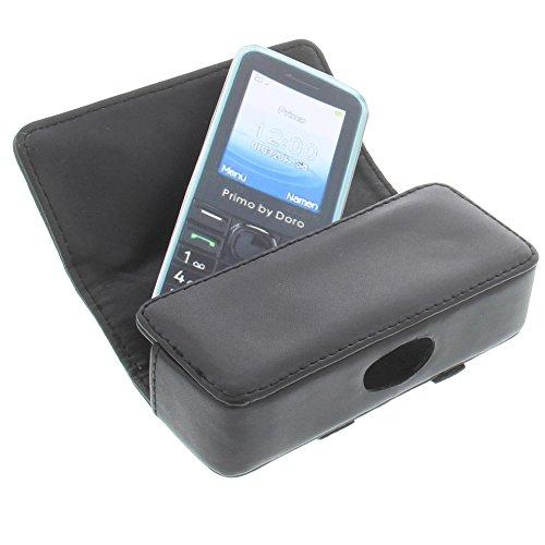 Tasche für Doro PhoneEasy 622 Primo 305 Quertasche Handytasche Schutz Hülle schwarz
