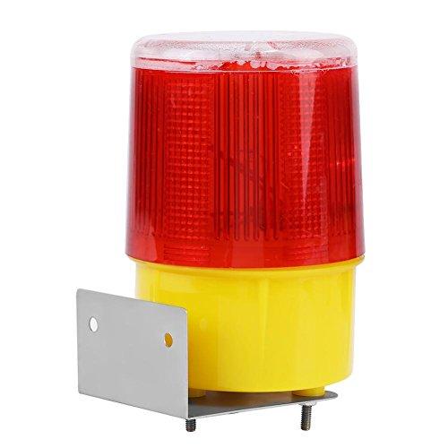 Akozon Solar Alarm Licht Solar LED Notfall Warnung Blitzlicht Alarm Lampe Verkehr Road Boat Red Light Barrikaden-Sicherheitszeichen Flicker Beacon Lampen Warnlicht Notlicht