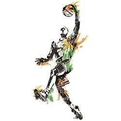 RoomMates RMK2571GM - Pegatinas de pared, diseño jugador de baloncesto gigante, 10 elementos