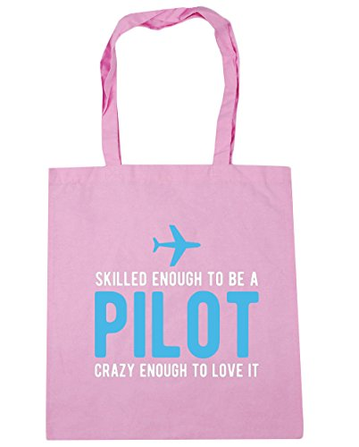 hippowarehouse-skilled-enough-to-be-a-pilot-crazy-enough-to-love-it-tote-shopping-gym-beach-bag-42cm