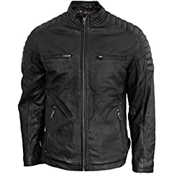 Rock-IT Men Winter Chaqueta de Cuero