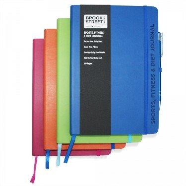 Notizbuch für Sport, Fitness und Ernährung, DIN A6 A6 fuchsia pink - 5