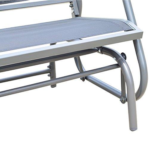 Outsunny Sitzbank, Metall, grau