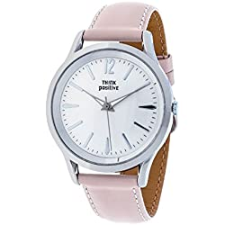 THINKPOSITIVE, Womens watch, Model SE W 130 A Big Milano,Imitation leather strap, Unisex, Color Pink