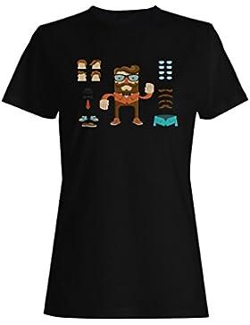 Novedad del hippy del inconformista del hombre camiseta de las mujeres a737f