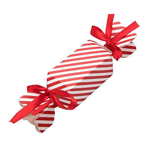 Scatole regalo natale 50 pcs con 100 pcs corda, confezioni regalo dolcetti, biscotti, dolci, caramelle e saponi fatti in casa scatole regalo per baby shower, natale per il natale(small)