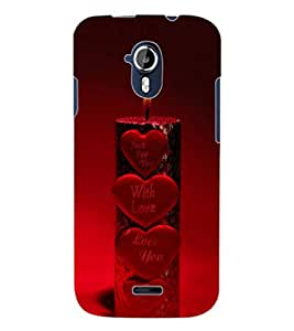 ColourCraft Love Candle Design Back Case Cover for MICROMAX CANVAS MAGNUS A117