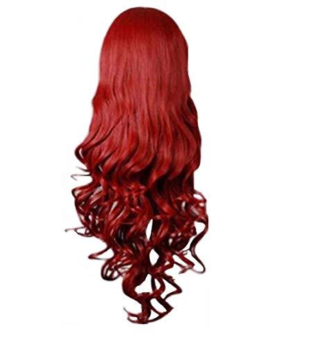 Zolimx Dame Farbe Lange Rolle Perücke Mode Wigs Damen Lange Gewellte Lockiges Haar Anime Cosplay Perücken (Schwarzes Lockiges Haar Kostüm)