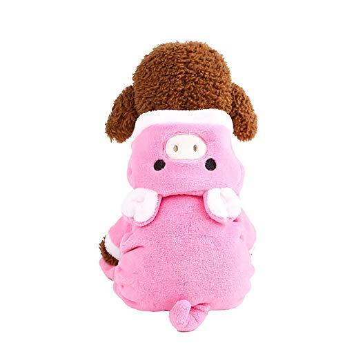 Xbeast Haustier-Pullover mit Ferkel-Motiv, warm, warm, für Hunde und Katzen, mit Hut für Kleine Hunde