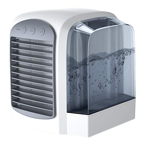 WSN Climatiseur Froid,Courroie humidificateur Personnel avec purificateur d'air USB 4 en 1 pour Bureau à Domicile,Gray