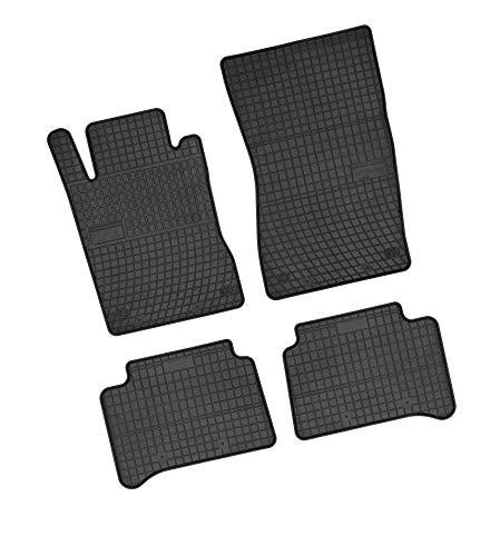 Bär-AfC MB02209 Gummimatten Auto Fußmatten Schwarz, Erhöhter Rand, Set 4-teilig, Passgenau für Modell Siehe Details