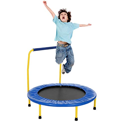 ANCHEER Kindertrampolin, Trampolin, mit Haltegriff, Indoor/Outdoor Trampolin, Maximale Gewicht Beträgt 75KG