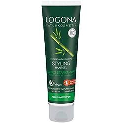 Logona cosmetico naturale Styling Gel per capelli di bambù, ideale per acconciature e fissare di tutti i tipi di capelli, staerk endes Arginina ridona capelli Halt, vegan, 50ML
