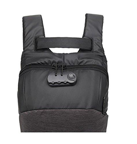 Z&N Wasserdicht Oxford Tuch Schulterbeutel kreative Passwort-Sperre Laptoprucksack lässig Diebstahl Rucksack im Freien Radfahren Laufen Wandern Bergsteigen und Tourismus A