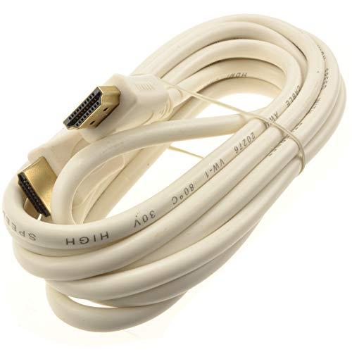HDMI 1,4 Hoch Geschwindigkeit Video Kabel Für TV PC DVR NVR Off Weiß Marked 3 m Kabel Pc-video-kabel