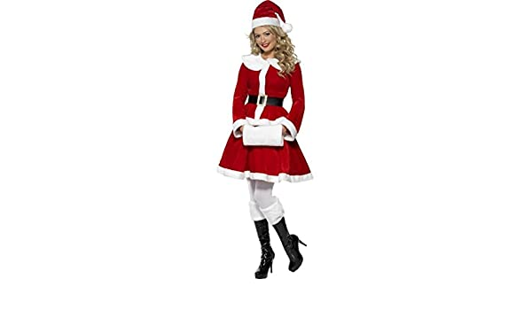 6bafab082 Ladies Deluxe Miss Santa Claus Classy Traditional Christmas Xmas Festive  Fancy Dress Outfit Costume: Amazon.co.uk: Clothing