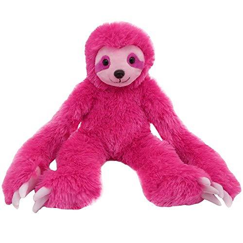 TE-Trend XXL Plüschfaultier Kuscheltier Dschungel Stofftier Faultier Sloth pink 53 cm sitzend liegend und hängend verwendbar