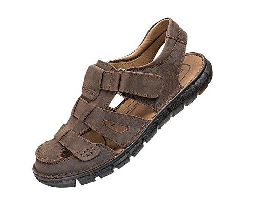 Moollyfox Sandales En PU-Cuir/Des Chaussures Antidérapantes Marron Foncé