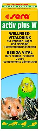 Sera 9882 activ Plus W 50 ml - Wellness Vitaldrink Futterergänzungsmittel Bei Futterverweigerung Zum Apetit anregen für Reptilien, Nager und Ziervögel
