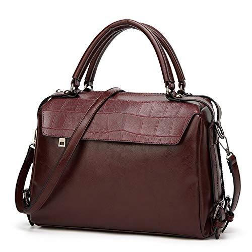 GDSZN Neue Ankunfts-Frauen-Pu-Leder-Handtaschen-Entwerfer-Crossbody Kurierbeutel-Dame Shoulder Bag-Beutel Der Qualitäts-FrauenDunkelbraun -