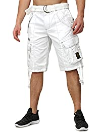 Geographical Norway Shorts Sweat PANTERE Cargaison Style avec beaucoup  Details Bestickungen Patches inklusive Ceinture 85fc8b526bf