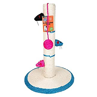 Cat Kitten Scratch Post 40cm Playpost Scratching Pole Toy Mouse Cats Claws Tree LAS BARGAINS 2