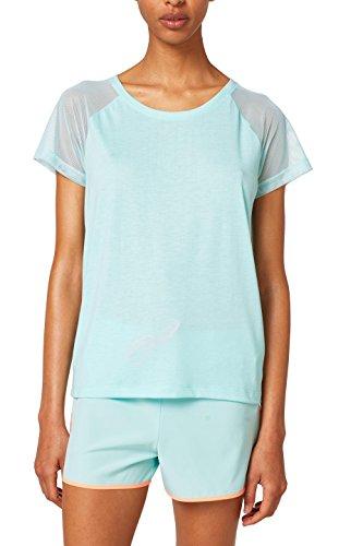 ESPRIT Sports Damen 058EI1K010 T-Shirt, Grün (Light Aqua Green 390), 36 (Herstellergröße: S)