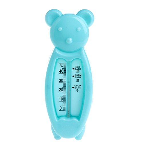 Lazder Badewannen-Thermometer Baby Kinder Bade-Wasser Temperatur Bärchen (Blau)