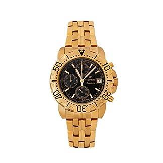 Oskar Emil Caesium 1119G – Reloj de Lujo Oro Cronógrafo para Hombre, Con Esfera Negro