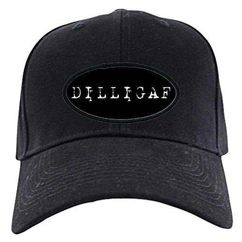 guolinadeou DILLIGAF Black Cap - Baseball Hat, Novelty Black Cap