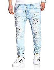 MT Styles Buttons Jeans Slim Fit pantalon RJ-2243