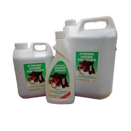 Batallas Spray 500Ml-Un Propósito general de yodo desinfectante para piel de animales
