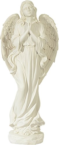 Anges debout blanc grand