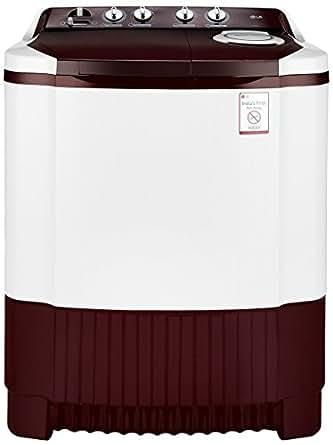 LG 7.0 kg Semi-Automatic Top Loading Washing Machine (P8073R3FA, Burgundy)