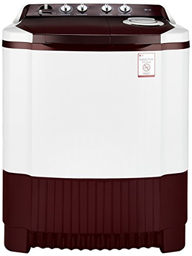 LG 7.0 kg Semi-Automatic Top Loading Washing Machine (P8073R3FA, Burgundy)