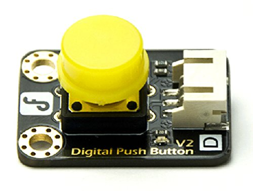 Gravity:Digital Push Button (Yellow)/Easy to 'plug and play'/Large button keypad and high-quality first-class hat/Able to achieve very interesting and an interactive work -