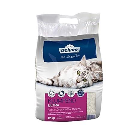 Dehner Premium Katzenstreu Ultra klumpend,100 % Betonit, 12 kg
