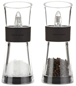 Cole & Mason Inverta Flip Acrylic and Plastic Salt and Pepper Mill Gift Set, 15.4 cm