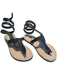Sandali Originali Kenya Modello Serpente Argento Collezione Sisi Mbili (40)