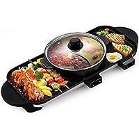 Barbacoa Eléctrica Grill Hot Pot Grill Multifunción Con Revestimiento Cerámico Grill Sin Humo BBQ Barbacoa Eléctrica