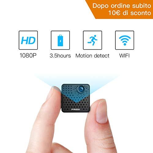 Fredi hd 1080p wireless ip telecamera spy cam mini telecamera videocamera wifi nascosta spia fotografica con movimento investigativo di sorveglianza sicurezza