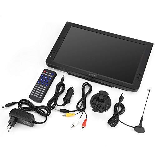 Lazmin Tragbares digitales Fernsehgerät, 12-Zoll-110-220-V-DVB-T-T2-Analog-USB-Anschluss Handfernsehgeräte für das Auto zu Hause im Flugzeug(1#) - Akku-halterung Atv