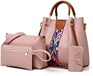 PU Leather Shoulder Bag & Hand Bag Set of 4 in 1 for W